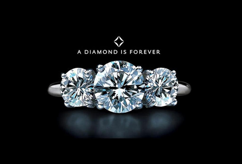 frase publicitaria un diamante es para siempre